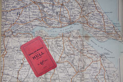 Old map of Hull stock image