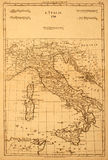 Old map of Italy. Royalty Free Stock Photos