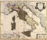 Old map of Italy. With Corsica and Sardinia stock illustration