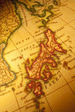 Old  Map of Japan Royalty Free Stock Photos