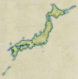 Old map of Japan. Old map of the whole of Japan design Stock Images