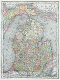 Old Map of Lower Michigan Stock Images