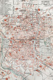 Old map of Madrid Royalty Free Stock Photography