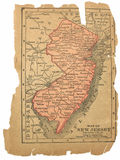 Old map of New Jersey Stock Photo