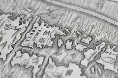 Old map of the new world. An image of an old map illustration of the new world Royalty Free Stock Image