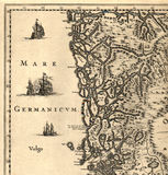 Old map of Norway Stock Photography