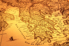 Free Old Map Of Greece Royalty Free Stock Photo - 25329105