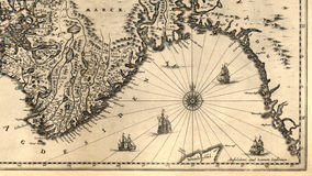 Free Old Map Of Norway Stock Photography - 11431502