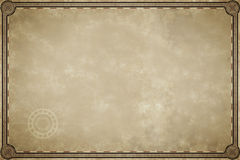 Old map parchment blank Royalty Free Stock Images
