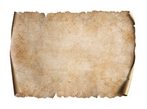Old map on parchment oriented 3d illustration Stock Images