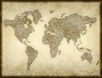 Old map parchment paper Royalty Free Stock Photo
