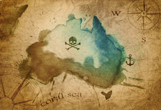 Old map parchment Royalty Free Stock Photos