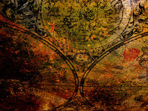 Old map on rusty metal Royalty Free Stock Photo