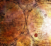 Old map on rusty metal Royalty Free Stock Photography