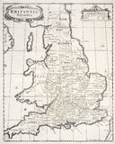 Old map of saxon britain Royalty Free Stock Images