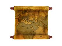 Old map scroll Royalty Free Stock Photography