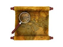 Old map scroll Royalty Free Stock Image