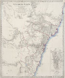 Old map of Sydney, NSW, Australia Royalty Free Stock Photography