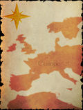 Old map texture Royalty Free Stock Photos