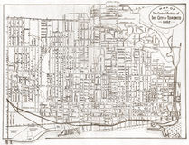 Old Map of Toronto Royalty Free Stock Photo
