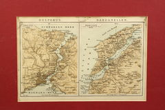 Old map of Turkey Royalty Free Stock Images