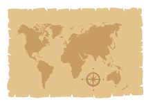 Old map vector Royalty Free Stock Photography