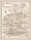 Germany Old Map Vector Stock Image