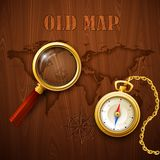 Old map. Vector illustration Royalty Free Stock Photos