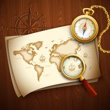 Old map. Vector illustration Stock Photo