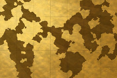 Old map wallpaper. Abstract golden old world map wallpaper Royalty Free Stock Photography