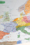 Old map of western europe Royalty Free Stock Images