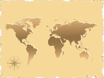 Old map of the world Stock Photography