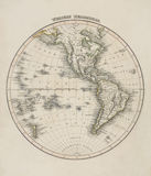Old map of the world Stock Images