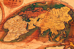 Old map of the world. Antique map. Old map of the world stock image