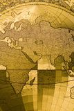Old map of the world Stock Image