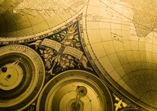 Old map of the world Royalty Free Stock Photo