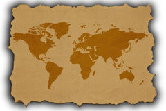 Old Map of the World Royalty Free Stock Photos