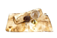 Old maps, compass and globe Royalty Free Stock Photography