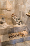 Old Marble Bathroom (1). Old Fashioned Domestic Marble Bathroom Royalty Free Stock Photos