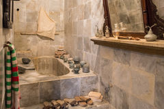 Old Marble Bathroom (2). Old Fashioned Domestic Marble Bathroom Royalty Free Stock Image