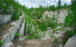 Old marble quarry Royalty Free Stock Photos