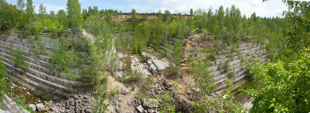 Old marble quarry Royalty Free Stock Photo