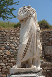Old marble sculpture in Ephesus Royalty Free Stock Images