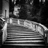 Old marble staircase Stock Photos