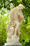 Old marble statue of antique allegory Royalty Free Stock Photo
