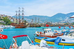 Old marina of Alanya Royalty Free Stock Images