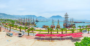 Old marina of Alanya Royalty Free Stock Photo