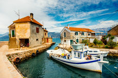Old marina in Montenegro Royalty Free Stock Photos