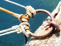 Old marine rope Royalty Free Stock Images