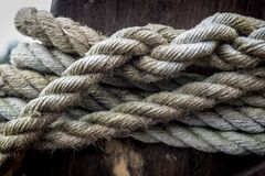 Old Marine Ropes stock image